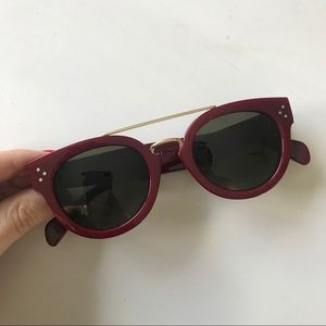 Celine cl 41043/s - Maroon/Gold Sunglasses